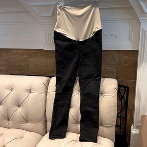 Loft Maternity Cotton Blend Tapered Leg Jeans